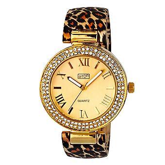 Eton Womens Leopard Print Clip on Bangle Watch Silk Finish - 3191J-LP