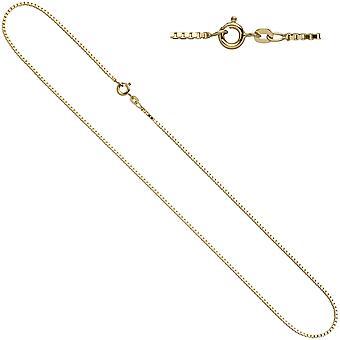 Women's Venetian necklace 333 yellow gold 1.0 mm 42 cm gold chain necklace gold chain