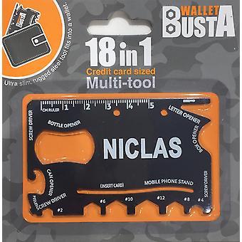 Cartão de débito de cartão de crédito Multitool NICLAS