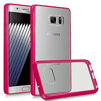 i-Tronixs Galaxy Note 7 Case Acrylic Gel WITH STYLISH COLOR FRAME LOOK-Pink