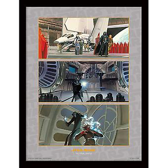 Star Wars The Final Battle Framed Plate 30-40cm