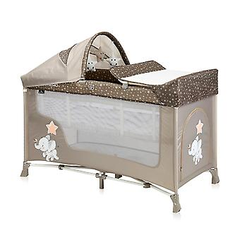 Lorelli Baby Travel Bed Running Stable San Remo, 2 Levels Plus, Colchão, Carrying Bag