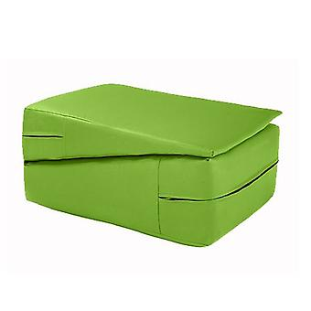 Fun!ture Faux cuir Pliant Gymnastique Wedge Training Safety Crash Mat (Lime)