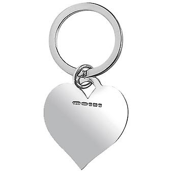 Orton West Heart Shaped Key Ring - Silver