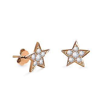 Korvakorut Star 18K kulta ja timantit