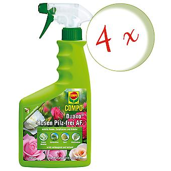 Sparset: 4 x COMPO Duaxo® Roses Mushroom-Free AF, 750 ml