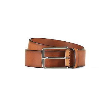 Leather jeans belt asher brown