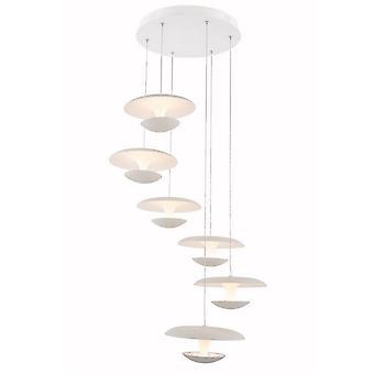 Lampada a Sospensione Marti Color Bianco in Metallo 40x40x120 cm