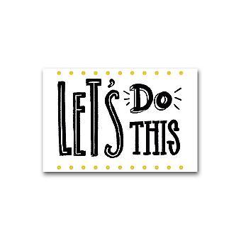 Let's Do This Aesthetic Design Poster -Image door Shutterstock