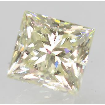 Certified 0.77 Carat J VVS2 Princess Enhanced Natural Diamond 4.87x4.71mm 2EX