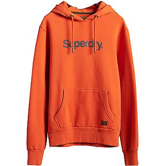 Superdry Mens Clássico Logotipo Canvas Sweater Hoodie