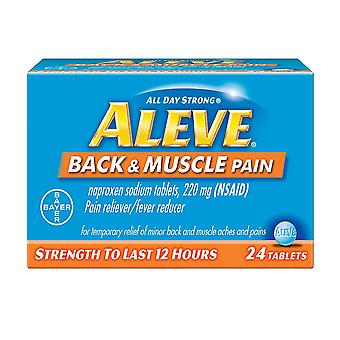 Aleve back & muscle pain, pain reliever/fever reducer, tablets, 24 ea *