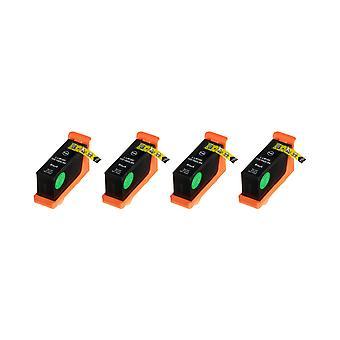 RudyTwos 4 x erstatning for Lexmark 100XL blekk enhet svart kompatibel med innvirkning S300, S301, S302, S305, S308, samhandle S601, S602, S605, S606, S608, tolker S402, S405, S408, S409, intuisjon S502, S