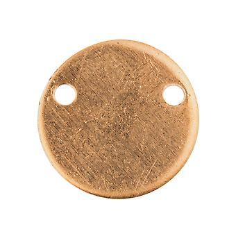 Kupfer Blanks Runde Scheibe Anhänger Pack von 6, 15mm