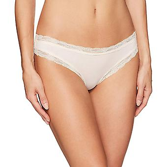 Mae Women's Super Soft Cotton Lace Thong, 3 Pack, Surtido, Tamaño Grande