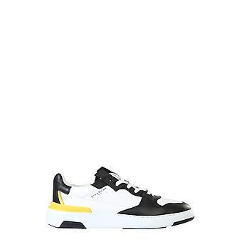 Givenchy Bh002kh0pb991 Heren's Wit/zwart Leren Sneakers