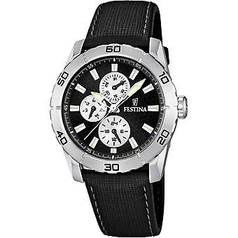 Festina men Quartz Analog Man Watch with Cowhide Bracelet F16607/3