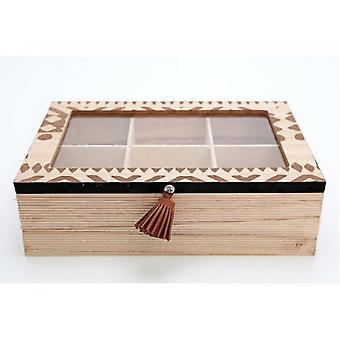 African Print Tea Box