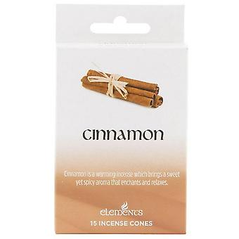 Elements Cinnamon Incense Cones (Box Of 12 Packs)