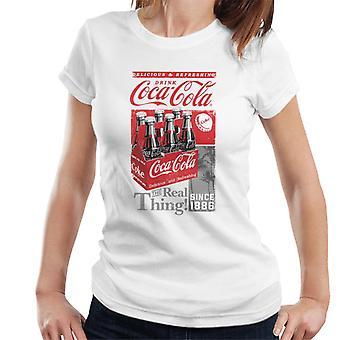 Coca Cola Rétro Bottle Crate Femmes-apos;t-shirt Coca Cola Rétro