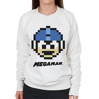 Mega Man Pixel Face Women's Sweatshirt
