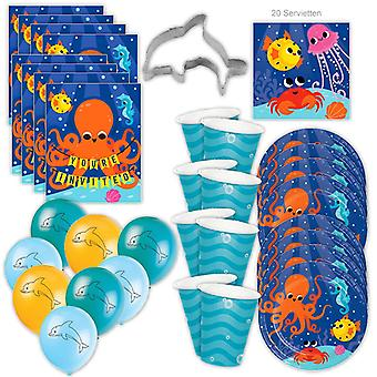 Onderwater Ocean Party Set XL 53-delige voor 8 gasten Party Sea Party Verjaardagsdecoratie Party Pakket