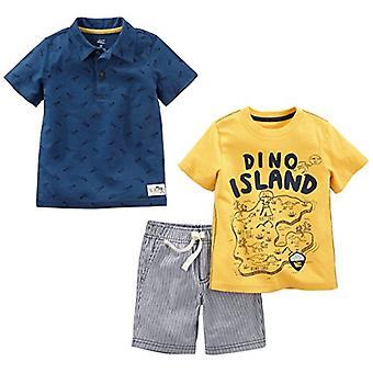 Simple Joys by Carter's Baby Boys' Toddler 3-Piece Playwear Set, Yellow and B...