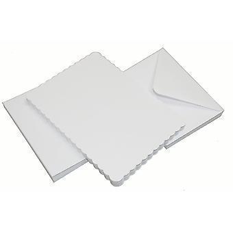 Craft UK Cards & Envelopes 5x7 Inch Scalloped White