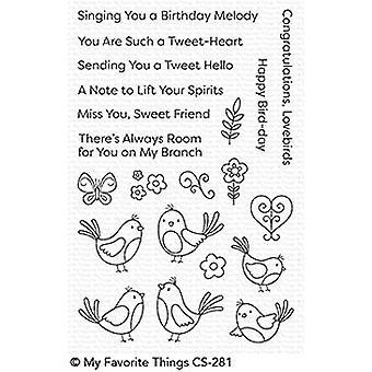 Meine Lieblings-Dinge Ein Tweet Hallo klare Briefmarken