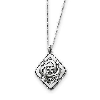 925 Sterling Zilver gepolijst Gift Boxed Spring Ring Rhodium vergulde ketting 18 Inch Sieraden Geschenken voor vrouwen