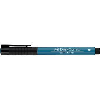 Faber Castell indiskt bläck Artist Pen Brush 153 Kobolt Turkos