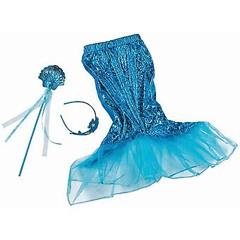 Mermaids Set blue 3pcs. Nixe Kids Costume Mermaid Girls