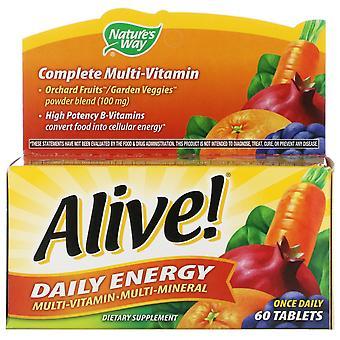 Nature's Way, Alive! Tägliche Energie, Multivitamin-Multimineral, 60 Tabletten