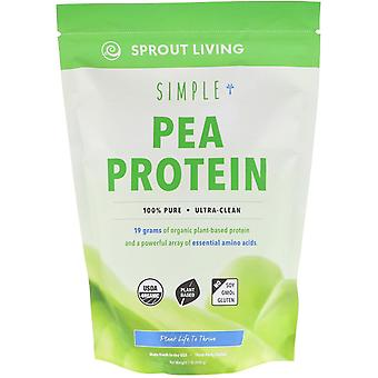 Sprout Living, Simple Protein, Organic Plant Protein, Pea (Unflavored), 1 lb (44