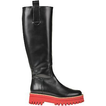 Paloma Barceló Ezbc129017 Dames's Black Leather Boots
