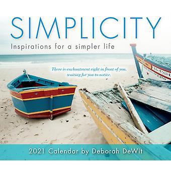 Simplicity Inspirations for a Simpler Life  Boxed Daily Calendar 2021 by Deborah Dewitt