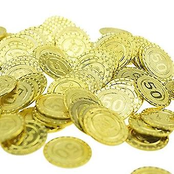 Plastic Gold Coin Treasure Game Currency