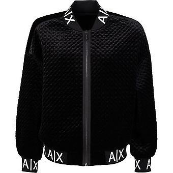 Armani Exchange Velvet Bomber Jacket