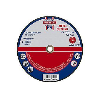 Faithfull Metal Cut Off Disco 350 x 3,5 x 25mm FAI3503525M