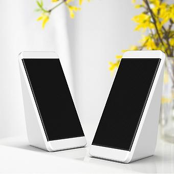 Usb-wired Computer Speakers 2 Pieces Pc-elevation Angle Horns For Laptop/desktop/phone Audio Multimedia-loudspeaker
