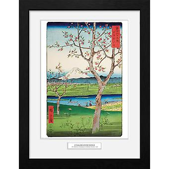 Hiroshige The Outskirts of Koshigaya Collector Print
