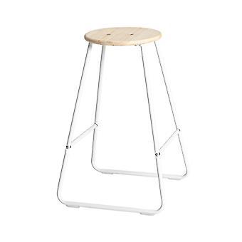 Holz Bar Hocker - Frühstück Küche Insel Counter Essstuhl mit Fußstütze - weiß / Kiefer