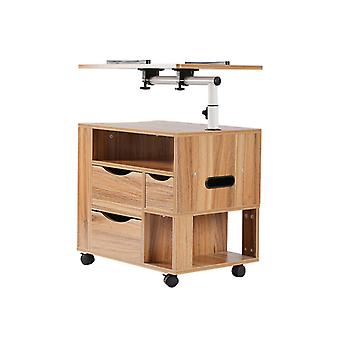 Multifunctional Bedside Cabinet Table Furniture Storage Nightstand With 4 Wheels