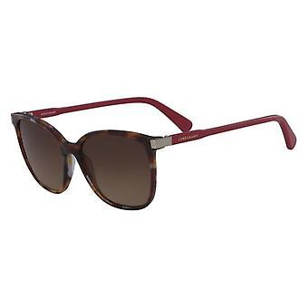 Longchamp LO612S 216 Havana Burgundy/Brown Sunglasses
