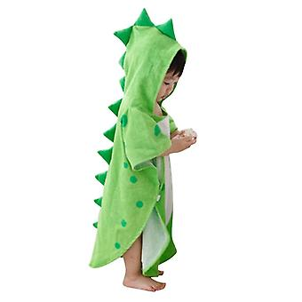 Kids Bathrobe, Cute Cartoon Dinosaur Hooded Towel