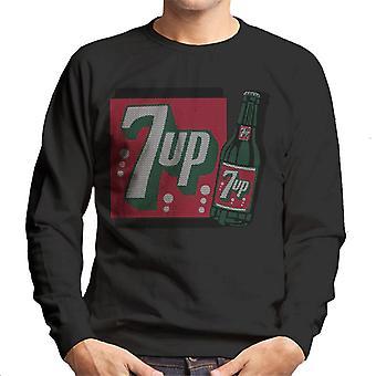 7up 1930s Vintage Bottle Design Men's Sweatshirt