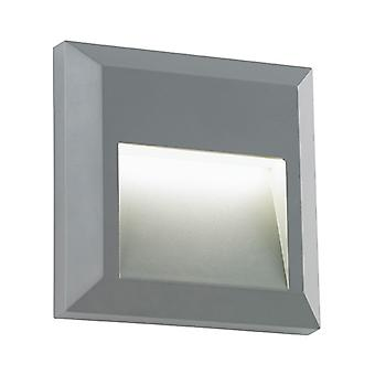 Saxby Lighting Severus - Outdoor Integrated LED Square Indirect IP65 1.1W Grey Abs Plastic & Clear