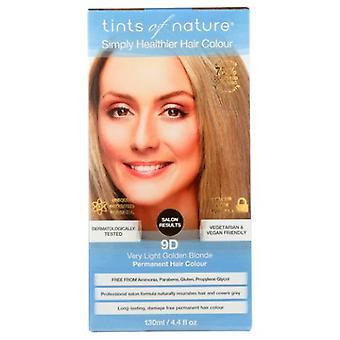 Tintit luonnon pysyvä hiusten väri, 9D erittäin vaalea blondi 4.4 Oz