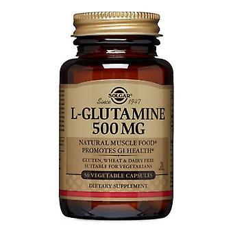 سولغار L-الجلوتامين، 500 ملغ، 50 V قبعات