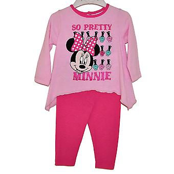 2 geteiltes Babyset mit Top + Hose - Minnie 4/6 Monate